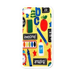 Fabric Cloth Textile Clothing Apple iPhone 4 Case (White)