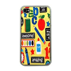 Fabric Cloth Textile Clothing Apple iPhone 4 Case (Clear)