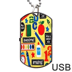 Fabric Cloth Textile Clothing Dog Tag USB Flash (One Side)