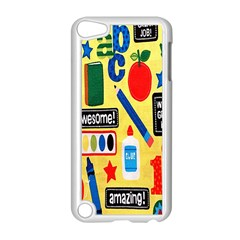 Fabric Cloth Textile Clothing Apple Ipod Touch 5 Case (white)