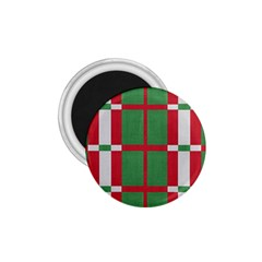 Fabric Green Grey Red Pattern 1.75  Magnets