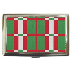 Fabric Green Grey Red Pattern Cigarette Money Cases
