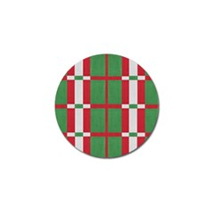 Fabric Green Grey Red Pattern Golf Ball Marker (10 pack)