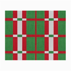 Fabric Green Grey Red Pattern Small Glasses Cloth (2-Side)