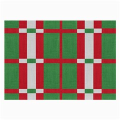 Fabric Green Grey Red Pattern Large Glasses Cloth (2-Side)