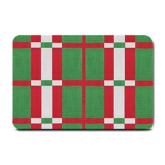 Fabric Green Grey Red Pattern Small Doormat