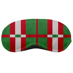 Fabric Green Grey Red Pattern Sleeping Masks