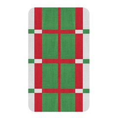 Fabric Green Grey Red Pattern Memory Card Reader