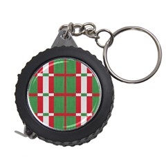 Fabric Green Grey Red Pattern Measuring Tapes