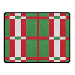 Fabric Green Grey Red Pattern Fleece Blanket (Small)