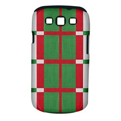 Fabric Green Grey Red Pattern Samsung Galaxy S Iii Classic Hardshell Case (pc+silicone)