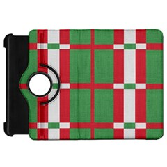 Fabric Green Grey Red Pattern Kindle Fire HD 7