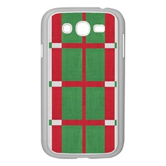 Fabric Green Grey Red Pattern Samsung Galaxy Grand DUOS I9082 Case (White)