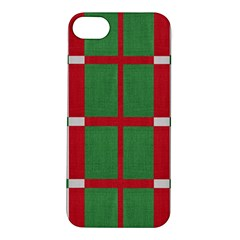 Fabric Green Grey Red Pattern Apple Iphone 5s/ Se Hardshell Case