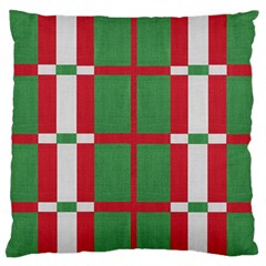 Fabric Green Grey Red Pattern Standard Flano Cushion Case (Two Sides)