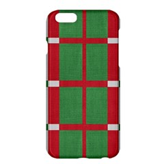 Fabric Green Grey Red Pattern Apple Iphone 6 Plus/6s Plus Hardshell Case