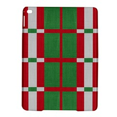Fabric Green Grey Red Pattern Ipad Air 2 Hardshell Cases