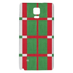 Fabric Green Grey Red Pattern Galaxy Note 4 Back Case