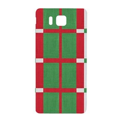 Fabric Green Grey Red Pattern Samsung Galaxy Alpha Hardshell Back Case