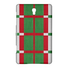 Fabric Green Grey Red Pattern Samsung Galaxy Tab S (8 4 ) Hardshell Case
