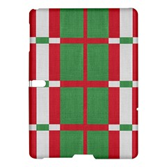 Fabric Green Grey Red Pattern Samsung Galaxy Tab S (10.5 ) Hardshell Case