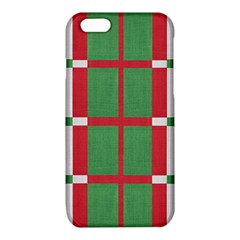 Fabric Green Grey Red Pattern iPhone 6/6S TPU Case