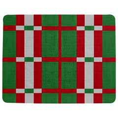 Fabric Green Grey Red Pattern Jigsaw Puzzle Photo Stand (Rectangular)