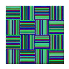 Fabric Pattern Design Cloth Stripe Tile Coasters