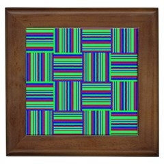 Fabric Pattern Design Cloth Stripe Framed Tiles