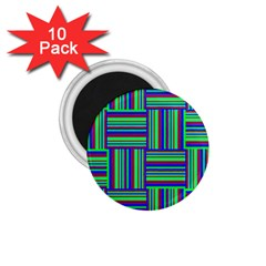 Fabric Pattern Design Cloth Stripe 1.75  Magnets (10 pack)
