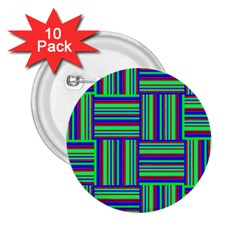 Fabric Pattern Design Cloth Stripe 2 25  Buttons (10 Pack)