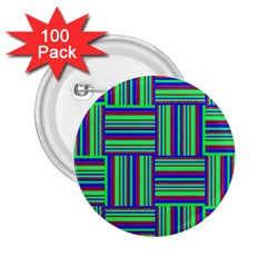 Fabric Pattern Design Cloth Stripe 2.25  Buttons (100 pack)