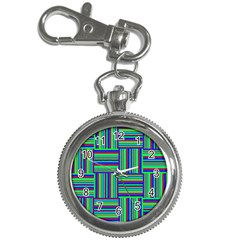 Fabric Pattern Design Cloth Stripe Key Chain Watches