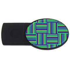 Fabric Pattern Design Cloth Stripe USB Flash Drive Oval (1 GB)