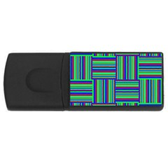 Fabric Pattern Design Cloth Stripe USB Flash Drive Rectangular (1 GB)