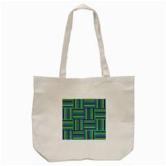 Fabric Pattern Design Cloth Stripe Tote Bag (cream)