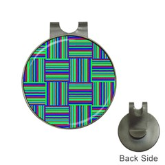 Fabric Pattern Design Cloth Stripe Hat Clips With Golf Markers