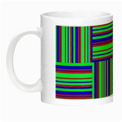 Fabric Pattern Design Cloth Stripe Night Luminous Mugs