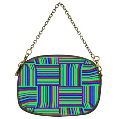 Fabric Pattern Design Cloth Stripe Chain Purses (Two Sides)