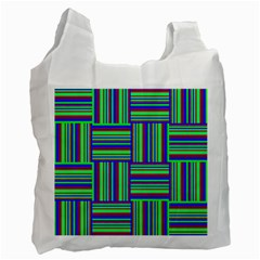 Fabric Pattern Design Cloth Stripe Recycle Bag (Two Side)