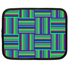 Fabric Pattern Design Cloth Stripe Netbook Case (XXL)