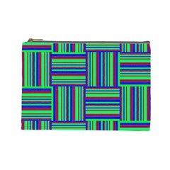 Fabric Pattern Design Cloth Stripe Cosmetic Bag (Large)