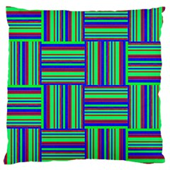 Fabric Pattern Design Cloth Stripe Large Cushion Case (one Side)