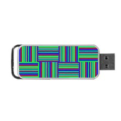 Fabric Pattern Design Cloth Stripe Portable USB Flash (One Side)