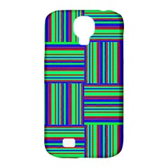 Fabric Pattern Design Cloth Stripe Samsung Galaxy S4 Classic Hardshell Case (pc+silicone)