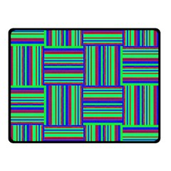 Fabric Pattern Design Cloth Stripe Double Sided Fleece Blanket (Small)
