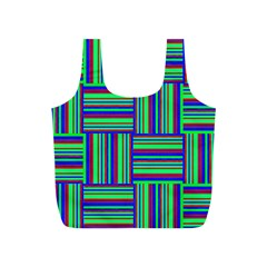 Fabric Pattern Design Cloth Stripe Full Print Recycle Bags (S)