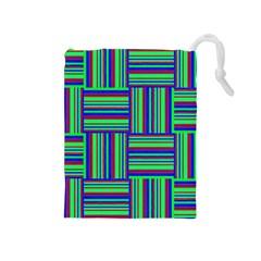 Fabric Pattern Design Cloth Stripe Drawstring Pouches (Medium)