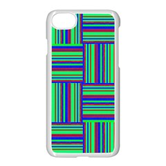 Fabric Pattern Design Cloth Stripe Apple iPhone 7 Seamless Case (White)