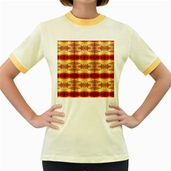 Fabric Design Pattern Color Women s Fitted Ringer T-Shirts